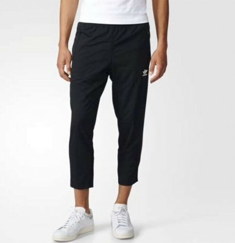 adidas Originals Men's 7/8 Tapered Track Pants in Black BQ3534 Brand New
